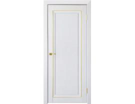 Двери межкомнатные Uberture Деканто ПДГ 2 бархат белый зол вставка