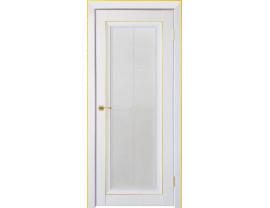 Двери межкомнатные Uberture Деканто ПДО 2 бархат белый зол вставка и нал 1к