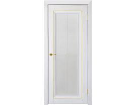 Двери межкомнатные Uberture Деканто ПДО 2 бархат белый зол вставка