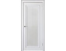 Двери межкомнатные Uberture Деканто ПДО 2 бархат белый черн вставка и нал 1к