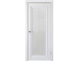 Двери межкомнатные Uberture Деканто ПДО 2 бархат белый черная вставка