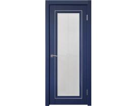 Двери межкомнатные Uberture Деканто ПДО 2 бархат синий серебро