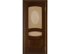 Двери межкомнатные Лайн-Дор Багетная Серия Алина тон 2 ст. Алина бронза