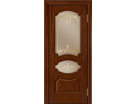 Двери межкомнатные Лайн-Дор Багетная Серия Марта тон 10 ст. Элегия бронза наливка золото