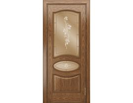 Двери межкомнатные Лайн-Дор Багетная Серия Оливия тон 45 ст. Рим бронза