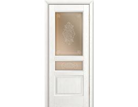 Двери межкомнатные Лайн-Дор Калевочная Серия Калина К тон 38 ст. Дамаск прозрачный на бронзе