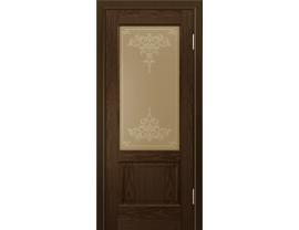 Двери межкомнатные Лайн-Дор Калевочная Серия Кантри К тон 35 ст. Лира бронза