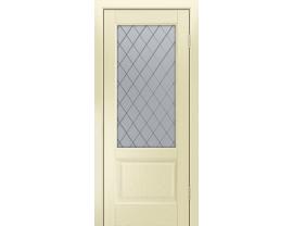 Двери межкомнатные Лайн-Дор Калевочная Серия Кантри К тон 42 ст. Милтон светлое