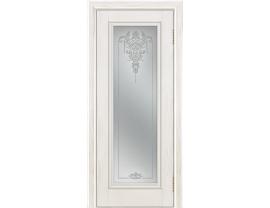 Двери межкомнатные Лайн-Дор Коллекция Классика Валенсия тон 38 ст. Версаль светлое наливка прозрачная