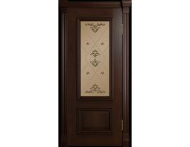 Двери межкомнатные Лайн-Дор Коллекция Классика Виолетта Д тон 30 ст. Прима бронза