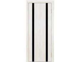 Двери межкомнатные Лайн-Дор Погонажная серия Камелия К2 тон 38 черный триплекс