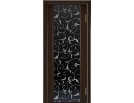 Двери межкомнатные Лайн-Дор Погонажная серия Камелия тон 12 ст. Кружева черный триплекс