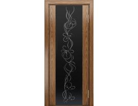 Двери межкомнатные Лайн-Дор Погонажная серия Камелия-К тон 45 ст. Фантазия черный триплекс