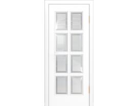 Двери межкомнатные Лайн-Дор Серия Color Аврора белая эмаль ст. Фацет