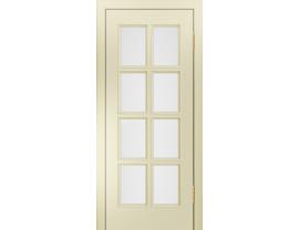 Двери межкомнатные Лайн-Дор Серия Color Аврора эмаль Бисквит ст. Белое
