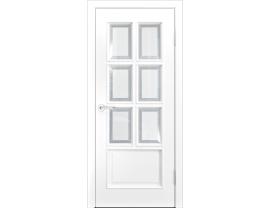 Двери межкомнатные Лайн-Дор Серия Color Аврора-2 Белая Эмаль ст. Фацет
