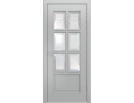 Двери межкомнатные Лайн-Дор Серия Color Аврора-2 Серая эмаль ст. Фацет