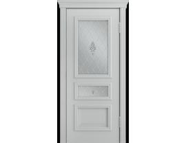 Двери межкомнатные Лайн-Дор Серия Color Агата Эмаль серая ст. Лилия светлое