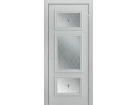 Двери межкомнатные Лайн-Дор Серия Color Афина Д Серая эмаль ст.Лилия светлое