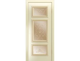 Двери межкомнатные Лайн-Дор Серия Color Афина Д эмаль Бисквит ст. Прима Бронза