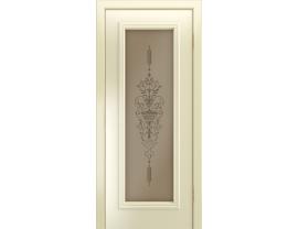 Двери межкомнатные Лайн-Дор Серия Color Валенсия Бисквит эмаль ст. Амфора бронза