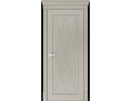 Двери межкомнатные Лайн-Дор Серия Color Валенсия К глухая Эмаль Капучино