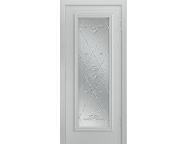Двери межкомнатные Лайн-Дор Серия Color Валенсия Серая эмаль ст. Прима светлое