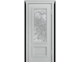 Двери межкомнатные Лайн-Дор Серия Color Виолетта Серая эмаль ст. Соната светлое