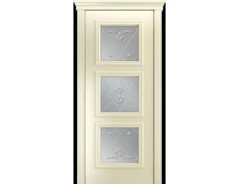 Двери межкомнатные Лайн-Дор Серия Color Грация Эмаль Бисквит ст. Прима светлое