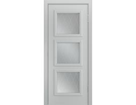 Двери межкомнатные Лайн-Дор Серия Color Грация Эмаль Серая ст. Лондон светлое