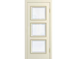 Двери межкомнатные Лайн-Дор Серия Color Грация 1 Эмаль Жасмин ст. Фацет