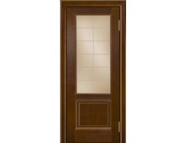Двери межкомнатные Лайн-Дор Укутанная Серия Эстела тон 30 ст. Решетка бронза